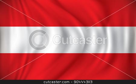 Flag of Austria stock vector clipart, Flag of Austria - vector illustration by ojal_2