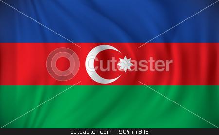 Flag of Azerbaijan stock vector clipart, Flag of Azerbaijan - vector illustration by ojal_2