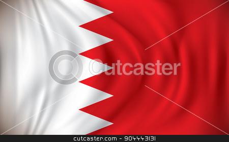 Flag of Bahrain stock vector clipart, Flag of Bahrain - vector illustration by ojal_2
