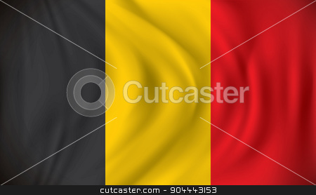 Flag of Belgium stock vector clipart, Flag of Belgium - vector illustration by ojal_2