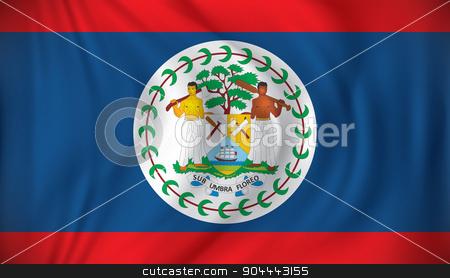Flag of Belize stock vector clipart, Flag of Belize - vector illustration by ojal_2