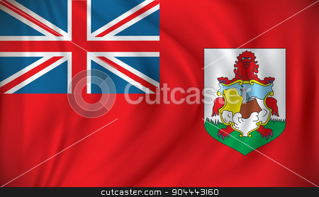 Flag of Bermuda stock vector clipart, Flag of Bermuda - vector illustration by ojal_2