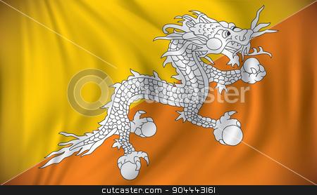 Flag of Bhutan stock vector clipart, Flag of Bhutan - vector illustration by ojal_2