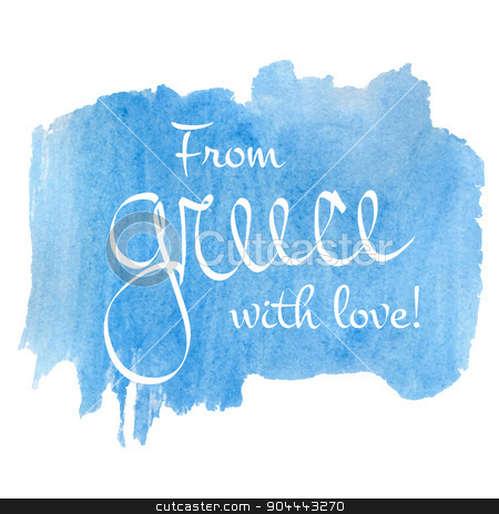 Greece love  stock vector clipart, From Greece with love text icon for travel projects. Vector illustration. by Anastasiya Ramanenka