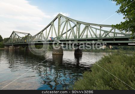 Glienicke Bridge west side stock photo, West side of the Glienicke Bridge in Berlin by Bernd Kröger