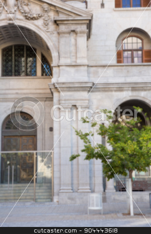 Large building in a city stock photo, Large building in a city front view by Wavebreak Media