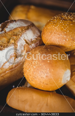 Close up view of bread stock photo, Close up view of bread at coffee shop by Wavebreak Media