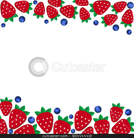 background  fresh strawberries and blueberriesof in flat style. Design template for vegetarian food and restaurant menu stock vector clipart, background of fresh strawberries in flat style. Design template for vegetarian food and restaurant menu. by Vladimir Khapaev