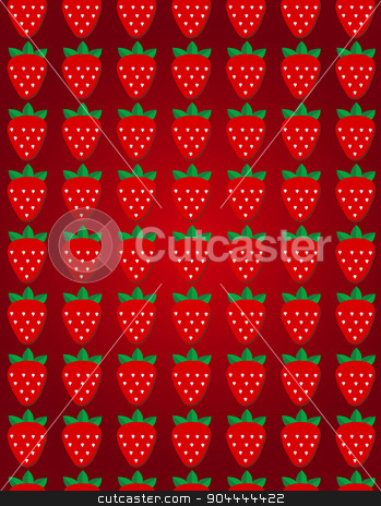 Seamless vector strawberry pattern. Design for wallpaper, textile,wrapping paper, package. stock vector clipart, Seamless vector strawberry pattern. Design for wallpaper, textile,wrapping paper, package by Vladimir Khapaev