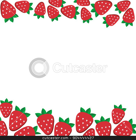 background of fresh strawberries in flat style. Design template for vegetarian food and restaurant menu stock vector clipart, background of fresh strawberries in flat style. Design template for vegetarian food and restaurant menu. by Vladimir Khapaev