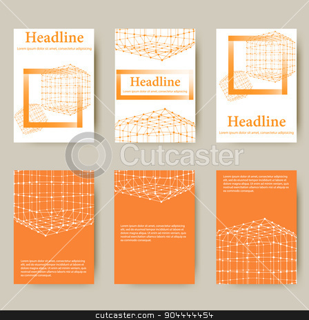 Polygonal design style letterhead and brochure for business. Abstract line polygonal design stock vector clipart, Polygonal design style letterhead and brochure for business. Abstract line polygonal design. by Vladimir Khapaev