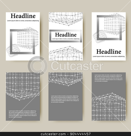 Polygonal design style letterhead and brochure for business. Abstract line polygonal design stock vector clipart, Polygonal design style letterhead and brochure for business. Abstract line polygonal design. by Vladimir Khapaev