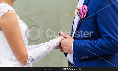 wedding theme, holding hands newlyweds stock photo, wedding theme, bride and groom holding  hands  by Satura86