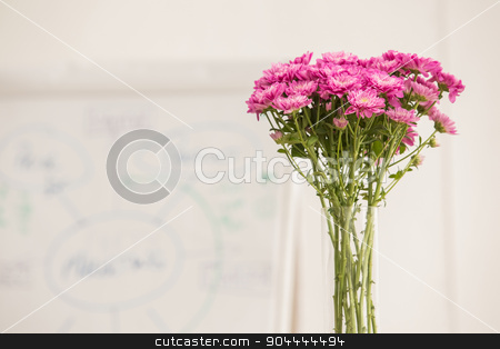 Fresh flowers in a meeting room stock photo, Fresh flowers in a meeting room in the office by Wavebreak Media