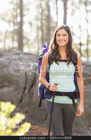 Young happy jogger looking in the distance stock photo, Young happy jogger looking in the distance in the nature by Wavebreak Media