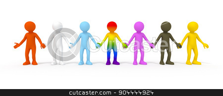 diversity stock photo, The diversity symbolized with some colored people by Markus Gann