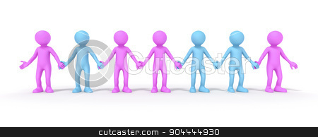 sexual orientation stock photo, Sexual orientation symbolized with some colored people by Markus Gann