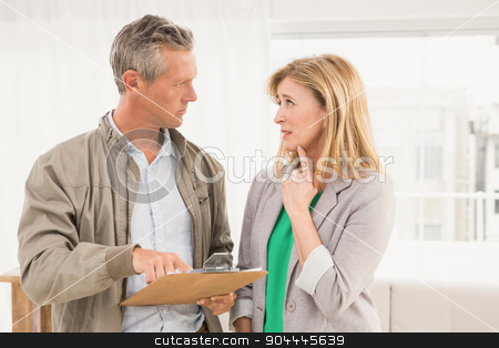 Casual business colleagues discussing  stock photo, Casual business colleagues discussing in the office by Wavebreak Media