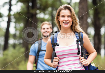 Portrait of a pretty hiker  stock photo, Portrait of a pretty hiker in the nature by Wavebreak Media