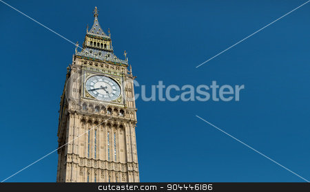 Big Ben great clock tower in London stock photo, England, London - Big Ben, the great clock tower of the Houses of Parliament in London and its bell by Syda Productions