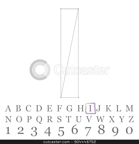 Vector low poly numbers font. Polygon number alphabet. Vector illustration. stock vector clipart, Vector low poly numbers font. Polygon number alphabet. Vector illustration by Vladimir Khapaev
