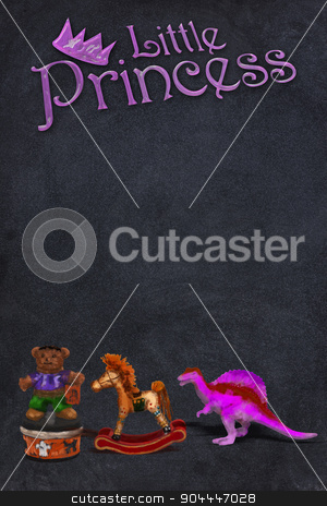 Little Princess. stock photo, Little princess blackboard with room for your type. by WScott