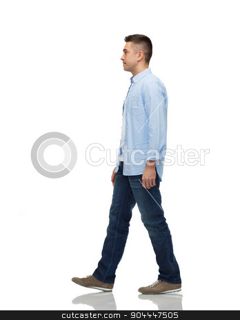 man walking stock photo, motion and people concept - man walking by Syda Productions