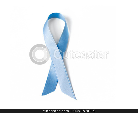 blue prostate cancer awareness ribbon stock photo, medicine, health care and symbolics concept - close up of blue prostate cancer awareness ribbon by Syda Productions