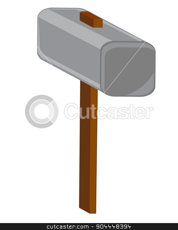 Tools hammer stock vector clipart, Tools hammer on white background is insulated.Vector illustration by cobol1964