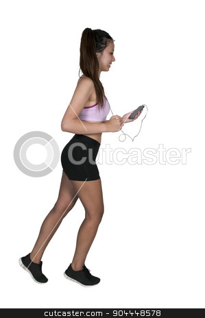 Woman Jogger stock photo, Beautiful woman jogging for health and fitness by Robert Byron