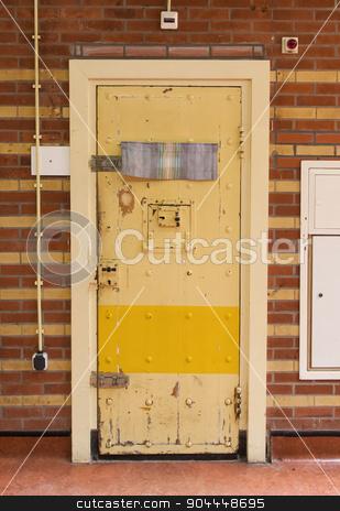 Very old prison door stock photo, Very old prison door, prison in the Netherlands by michaklootwijk