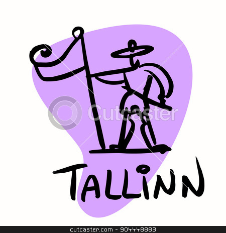 Tallinn the capital of Estonia stock vector clipart, Tallinn the capital of Estonia. A stylized image of the city tourism travel places by rogistok
