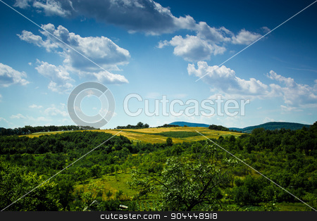 Landscape from Romania stock photo, A beautiful vew from Romania in a cloudy day by Roland Valentin Raicu