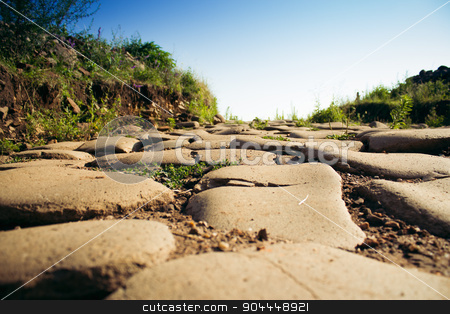 Paved Road stock photo, Old country paved road. by Roland Valentin Raicu