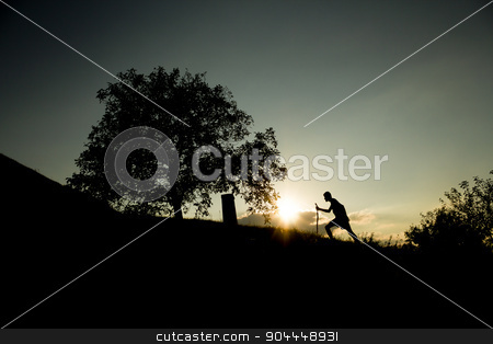Achieving succes stock photo, Photo of a man achieving his goal by Roland Valentin Raicu