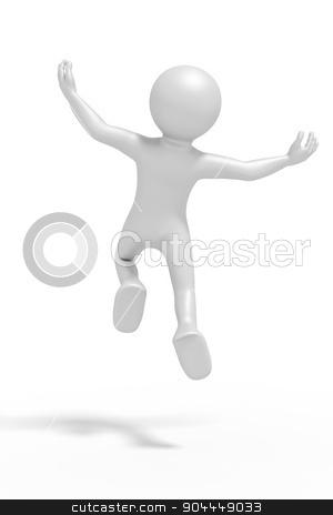 jumping man stock photo, An image of a jumping winning man by Markus Gann
