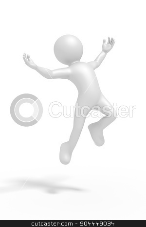 jumping man stock photo, An image of a jumping winning man by Markus Gann