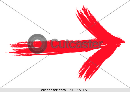 red grunge arrow stock photo, An image of a red grunge arrow by Markus Gann