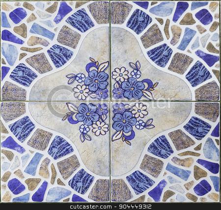 Classic  pattern floor tiles stock photo, Closeup pattern of classic  pattern floor tiles by manusy