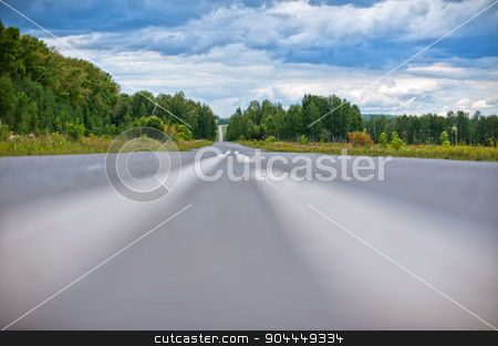 the road stock photo, Picture of empty countryside road by olinchuk