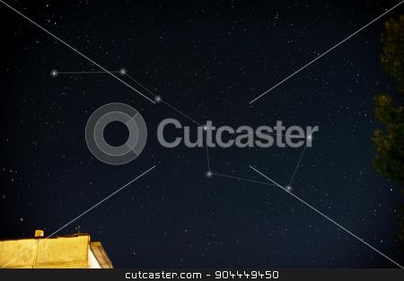 Constellations. Ursa Major  stock photo, Constellations. Ursa Major (Great bear) on the night sky by olinchuk