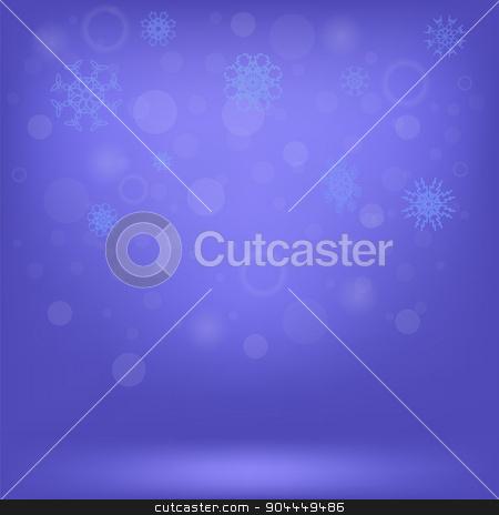 Snow Background stock vector clipart, Winter Snow Background. Snow Flakes on Blue Sky Background by valeo5