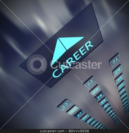 Career elevator stock photo, Image of an elevator with written career by Federico Caputo