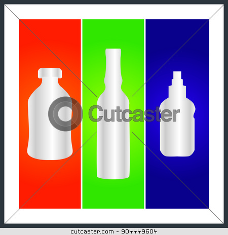 bottle and packaging stock photo, set of Daily bottles vector format  by Tajdar Muhammad