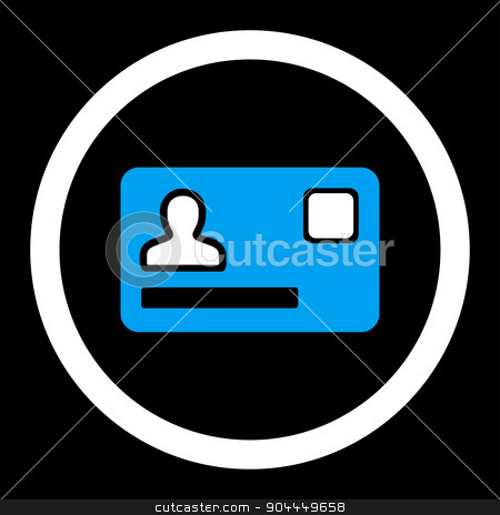Banking Card icon stock photo, Banking Card raster icon. This flat rounded symbol uses blue and white colors and isolated on a black background. by ahasoft