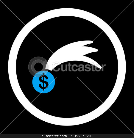 Lucky icon stock photo, Lucky raster icon. This flat rounded symbol uses blue and white colors and isolated on a black background. by ahasoft