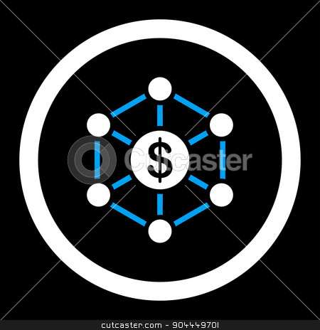 Scheme icon stock photo, Scheme raster icon. This flat rounded symbol uses blue and white colors and isolated on a black background. by ahasoft