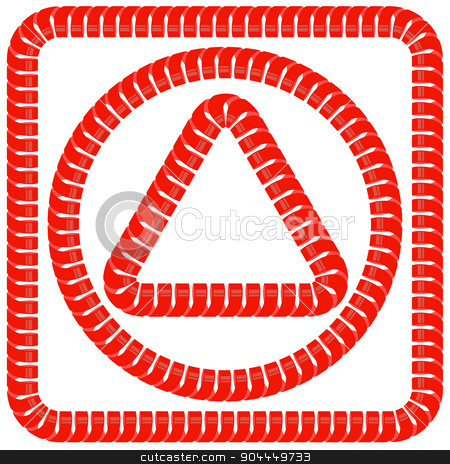 Red Frames stock vector clipart, Set of Red Frames Isolated on White Background by valeo5