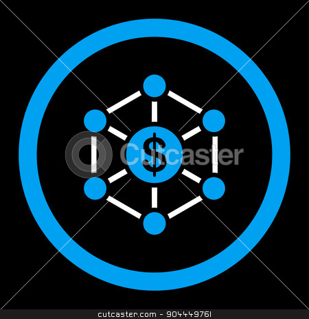 Scheme icon stock vector clipart, Scheme vector icon. This flat rounded symbol uses blue and white colors and isolated on a black background. by ahasoft
