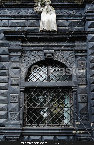 architectural elements of the building and the window stock photo, architectural elements of the building and the window. by timonko